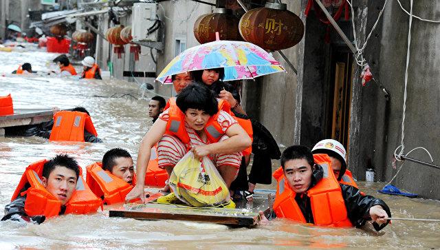 Наводнение в Китае. Архивное фото