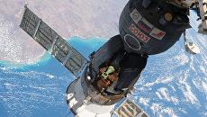 Стыковка корабля Союз МС-01 с МКС