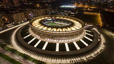 Стадион футбольного клуба Краснодар в городе Краснодар. Архивное Фото.