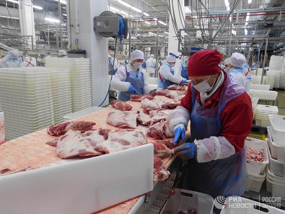 Работа мясоперерабатывающего завода ГК Агро-Белогорье