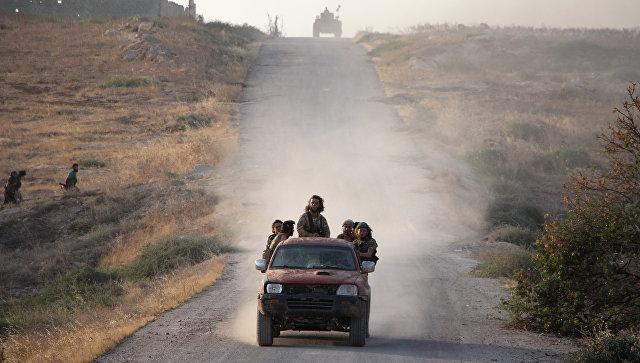 Боевики за группировки Джунуд аль-Акса на севере Сирии. Архивное фото