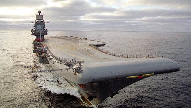 Тяжелый авианесущий крейсер Адмирал Кузнецов. Архивное фото