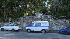 Полицейский автомобиль в Абхазии. Архивное фото