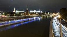 Московский Кремль и и Москва река. Архивное фото