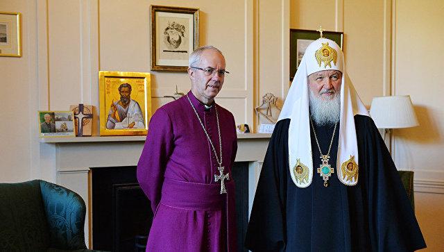 Состоялась беседа Святейшего Патриарха Кирилла сархиепископом Кентерберийским Джастином Уэлби