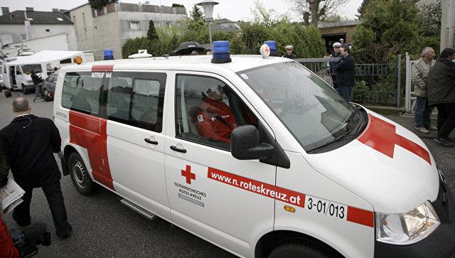 В Австрии сильная буря обрушилась на пивной тент, два человека погибли