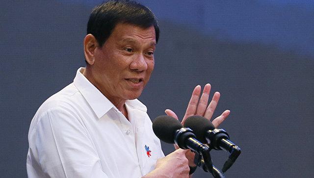 Президент Филиппин Родриго Дутерте в Маниле, 13 октября 2016 года