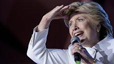 Кандидат в президенты США Хиллари Клинтон на третьих теледебатах. 19 октября 2016 года