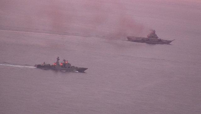 Адмирал Кузнецов прошел Ла-Манш в сопровождении норвежского фрегата
