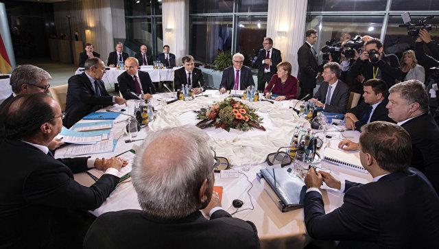 Встреча лидеров стран нормандской четверки в Берлине. Архивное фото