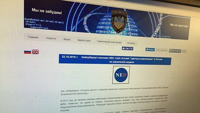 Скриншот страницы сайта http://cyber-berkut.org/