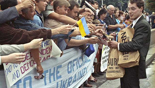 Накануне августовского путча. Визит Дж.Буша старшего в СССР. Жители Киева готовятся к встрече американского президента