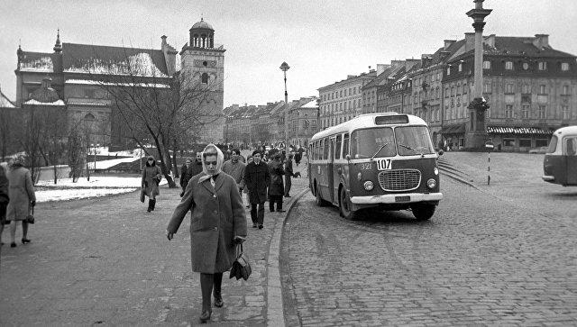 Одна из улиц города Варшава