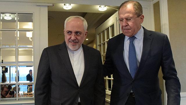 Министр иностранных дел Российской Федерации Сергей Лавров и министр иностранных дел Исламской Республики Иран Мохаммад Джавад Зариф