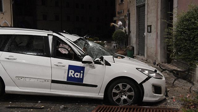 Последствия землетрясения в провинции Мачерата, Италия. Архивное фото