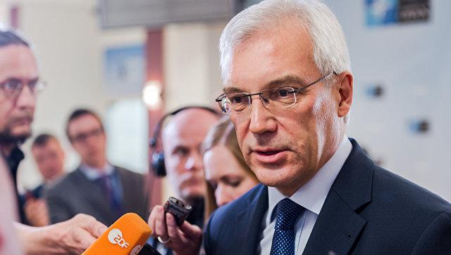 Постоянный представитель РФ при НАТО Александр Грушко после заседания Совета Россия-НАТО. Архивное фото