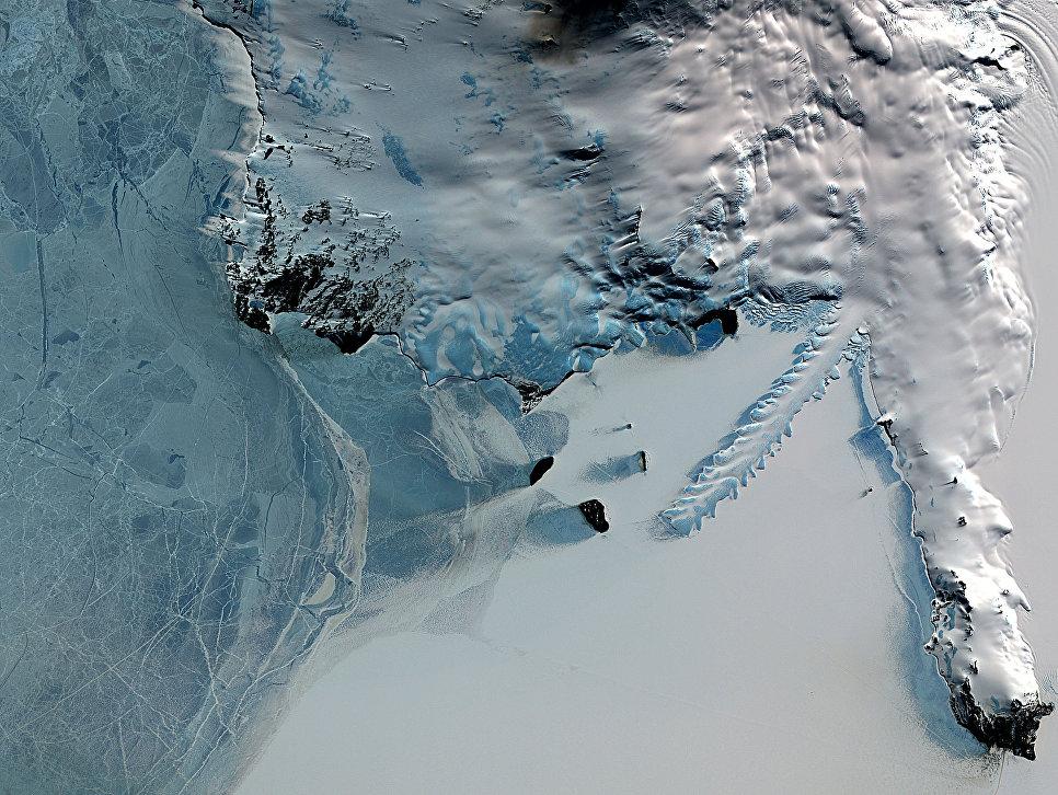 Ледовый язык Эребуc, Антарктида