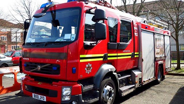 Автомобиль пожарной бригады в Великобритании. Архивное фото