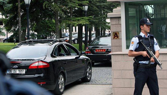 Въезд в министерство внутренних дел Турции в Анкаре