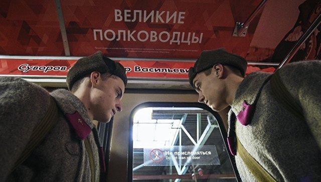 Песни висполнении ансамбля имени Александрова прозвучат вмосковском метро