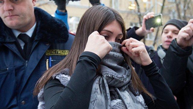 Задержанная за нарушение ПДД Мара Багдасарян в Савеловском районом суде Москвы. Архивное фото