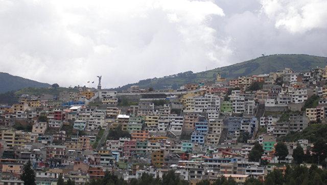 Вид на Кито. Эквадор. Архивное фото