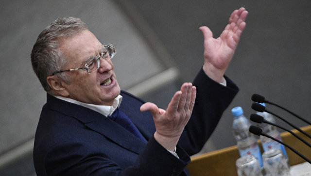 Владимир Жириновский на пленарном заседании Госдумы. Архивное фото