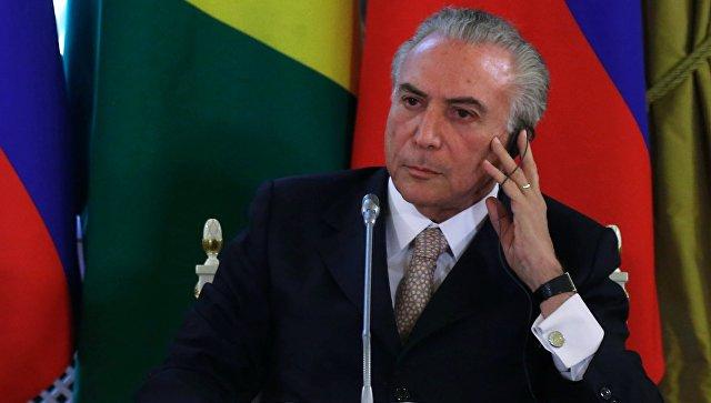 Президент Бразилии Мигел Элиас Темер. Архивное фото