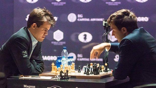 Шахматы. Матч за звание чемпиона мира 2016. М.Карлсен vs С.Карякин. Архивное фото