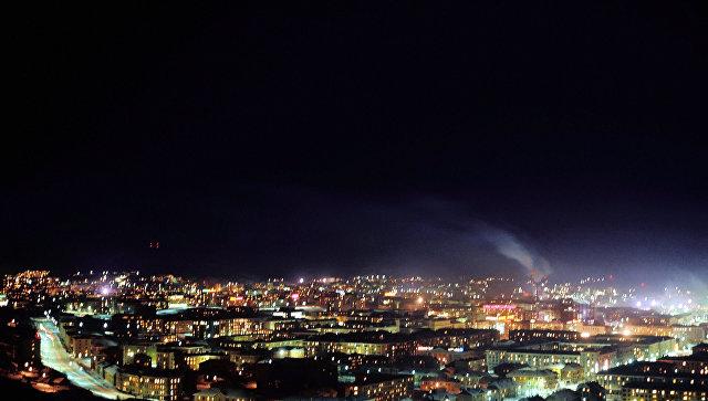 Полярная ночь в Мурманске