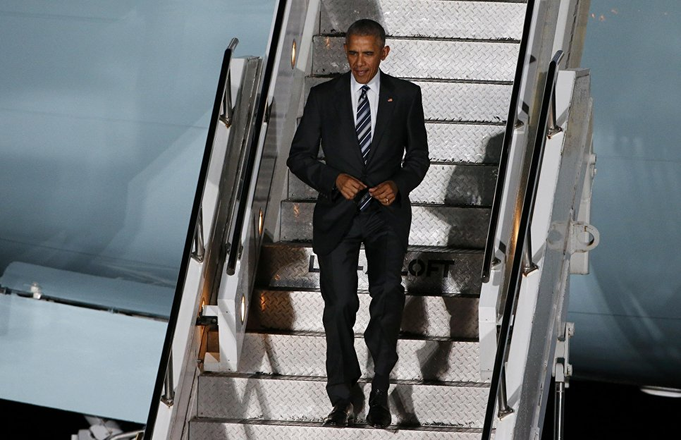 Визит Обамы вБерлин начнется снеформального ужина сМеркель