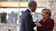 Президент США Барак Обама и канцлер Германии Ангела Меркель в Берлине. Архивное фото