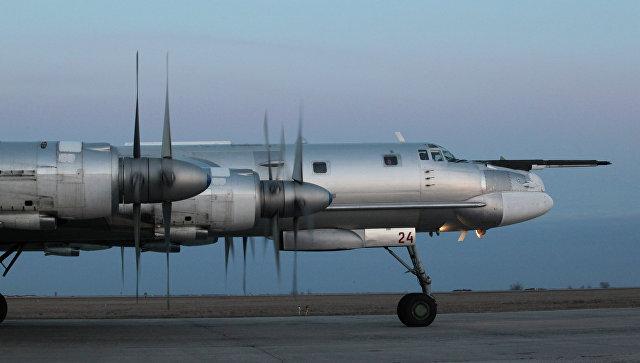 Турбовинтовой стратегический бомбардировщик-ракетоносец Ту-95МС. Архивное фото