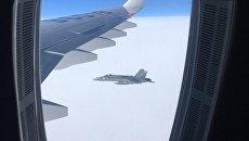 Опасное приближение истребителей Швейцарии к российскому самолету