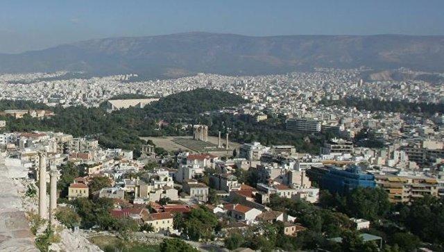 Вид на Афины со смотровой площадки. Греция. Архивное фото