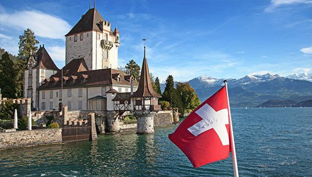 Флаг Швейцарии. Архивное фото
