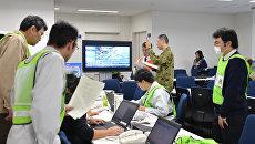 Штаб по сбору данных о землетрясении в префектуре Фукусима, Япония. Архивное фото