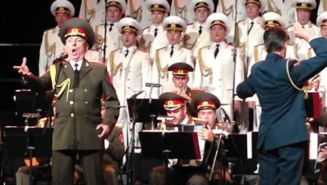 Выступление Академического ансамбля песни и пляски Российской армии имени А. В. Александрова