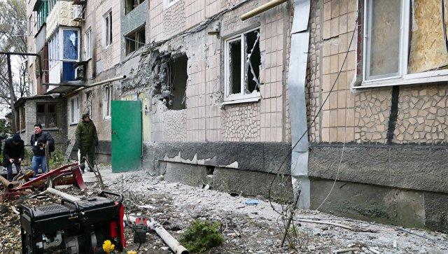 Боевики ВСУ обстреляли промзону под Ясиноватой 30ноября 2016 19:27