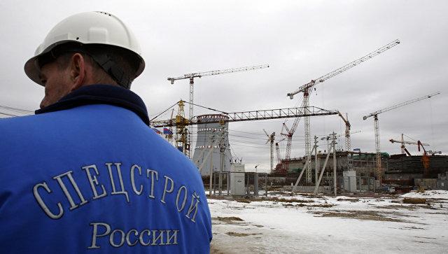 Строительная площадка Ленинградской атомной электростанции-2 в городе Сосновый Бор