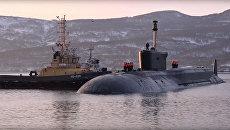Атомный подводный крейсер стратегического назначения Александр Невский. Архивное фото