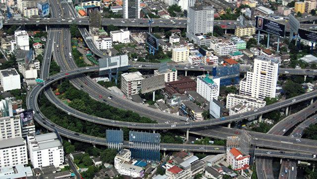 Вид на Бангкок. Таиланд, архивное фото