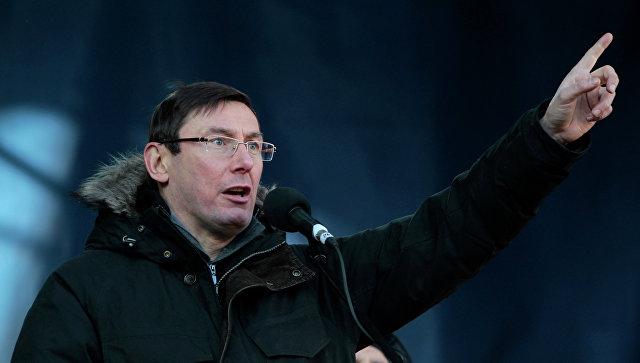 Украинский оппозиционный лидер Юрий Луценко