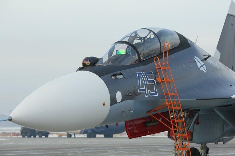 Морская авиация получила новые истребители Су-30СМ