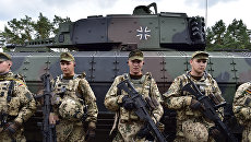 Солдаты танкового подразделения Бундесвера. Архивное фото