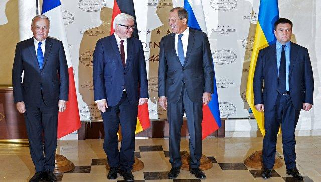 Москва рассчитывает, что ее проинформируют об итогах беседы лидеров ФРГ, Франции и Украины