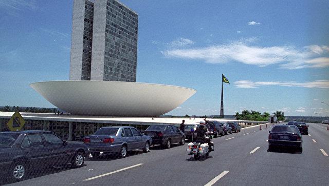 Город Бразилиа. Бразилия. Архивное фото