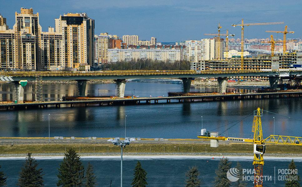 Строительство Северо-Западного скоростного диаметра в Санкт-Петербурге