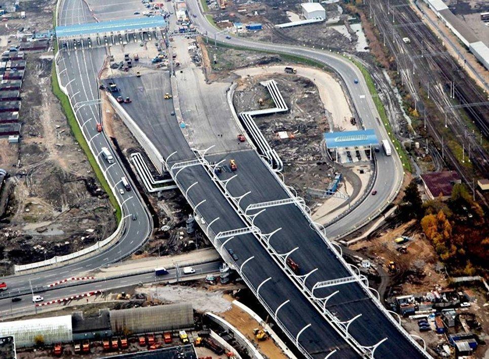 Строительство участка второй очереди Западного скоростного диаметра в Санкт-Петербурге