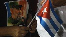 Траурный митинг в память о Фиделе Кастро в Сантьяго-де-Куба. Архивное фото